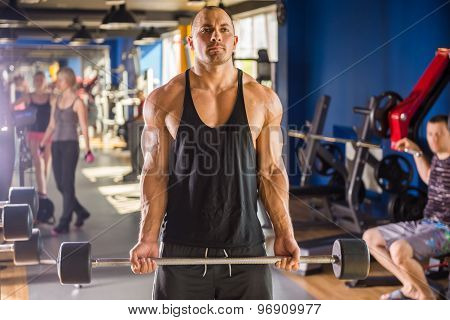 Bodybuilder At Gym