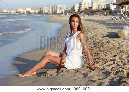 The Girl On Coastline