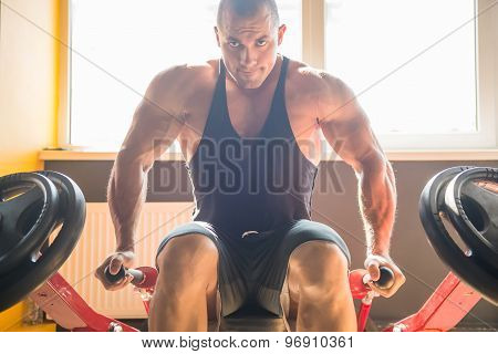 Bodybuilder At Gym