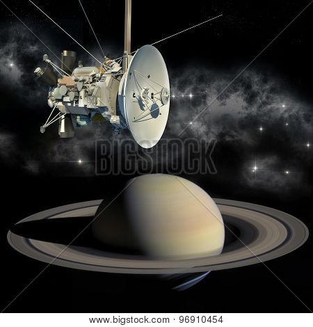Cassini mission orbiter closing Saturn