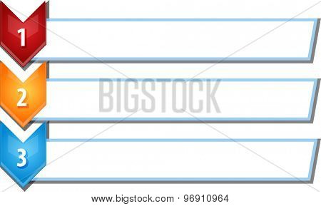 blank business strategy concept infographic chevron list diagram illustration three 3 steps