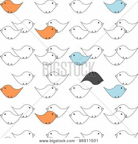 Little birds pattern