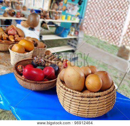 Gourds In Baskets