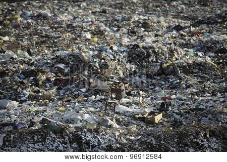 Chair On Garbage Dump