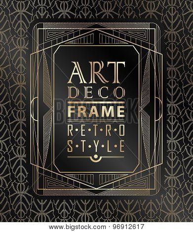 Art deco geometric