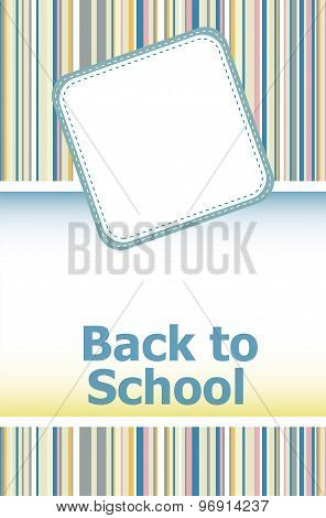 Back To School. Design Elements, Abstract Background, Education Concept
