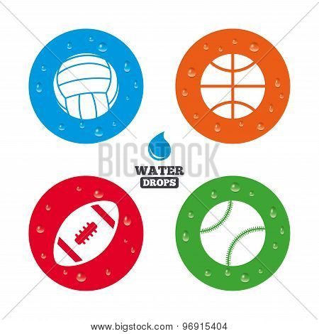 Sport balls. Volleyball, Basketball, Baseball.