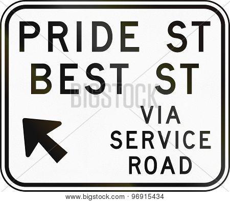 Direction Sign In Australia