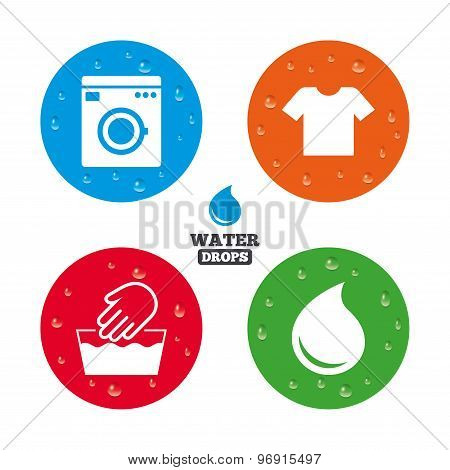 Wash icon. Not machine washable symbol.