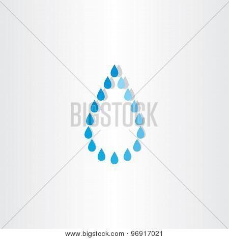 Drop Of Water Rain Icon Design