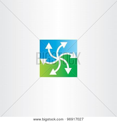 Green Blue Arrows Recycling Symbol