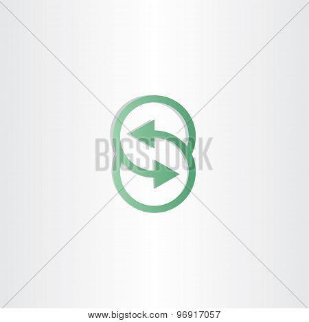 Letter S Vector Arrows Symbol Design