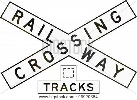 Railway Crossbuck With Number Of Tracks In Australia