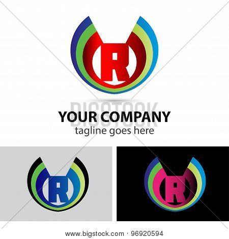 Letter R logo icon design template elements symbol