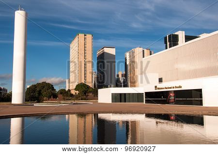 National Library of Brasilia and Business Buildings