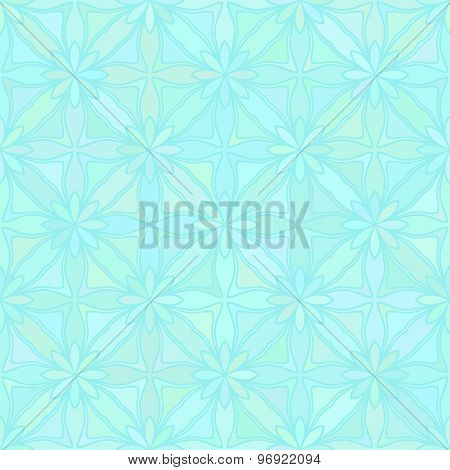 Abstract vector background Geometric flower Seamless pattern Aquamarine colors