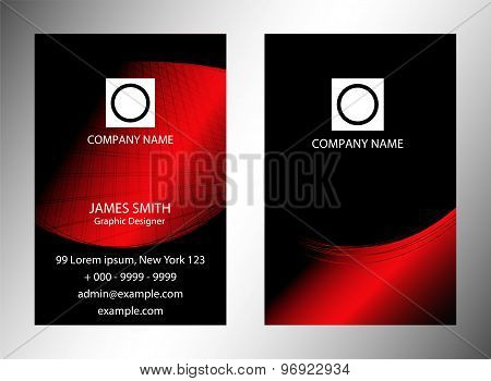 Red background concept for brochure or poster