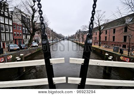 Dutch Canal Of Amsterdam