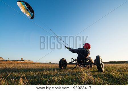 Unidentified Rider On A Kitebuggy
