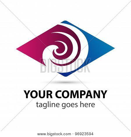 Rhombus icon Swirl logo