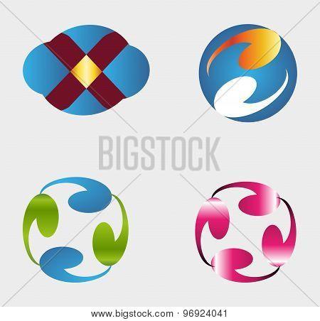 Set of modern and elegant logo design