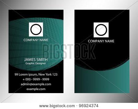 Set of vertical business cardsdesign