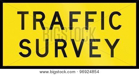 Traffic Survey In Australia