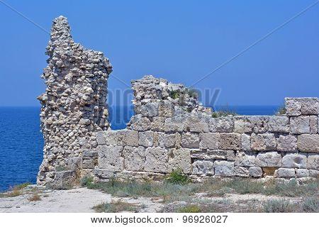 Ruins Of Ancient Fortress Wall
