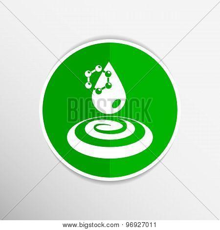 water molecule chemistry atom symbol icon