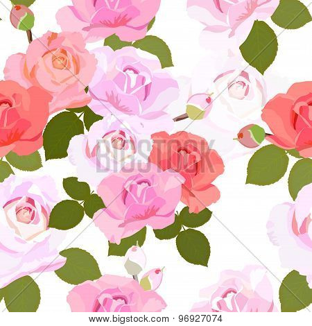 Floral Texture with beautiful roses