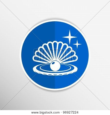 Gray web icon pearl isolated ball vector symbol element illustration