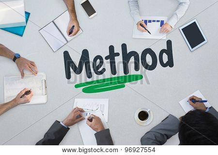 The word method against business meeting