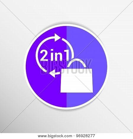 two in one product package bag Vector illustration icon