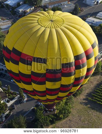 Hot Air Balloon In Napa Valley, California.