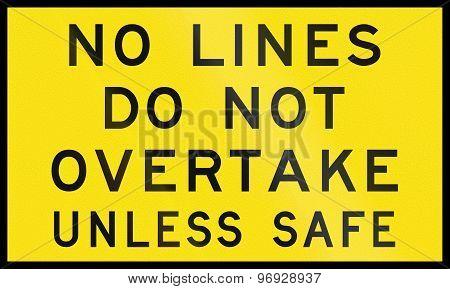 No Lines In Australia