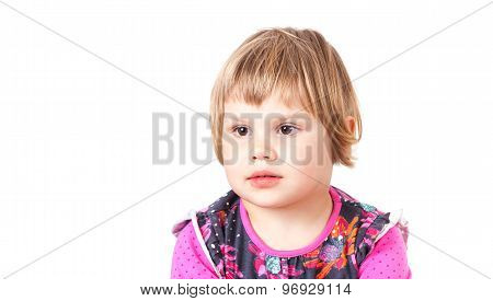 Cute Caucasian Blond Baby Girl Girl Isolated Portrait