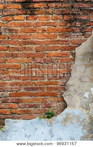 Old Grunge And Damaged Brick Wall Background