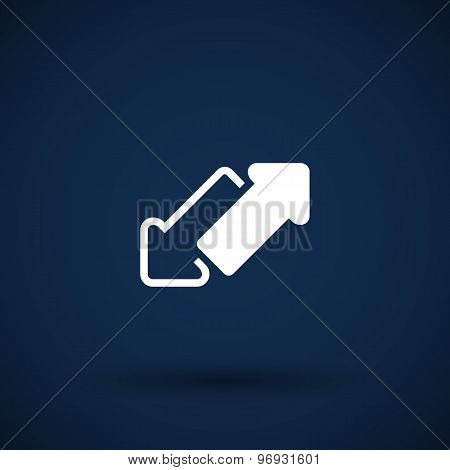 two side arrow vector seamless web page
