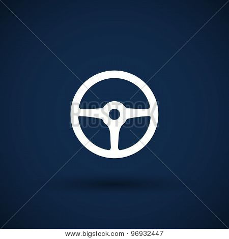 wheel icon steering car circle vehicle