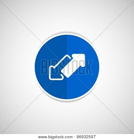 2 side arrow vector seamless web page