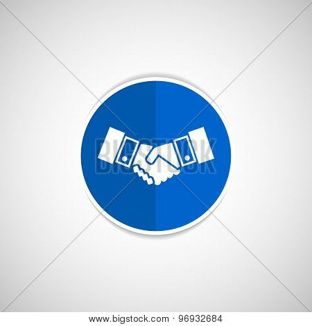 Handshake vector icon hake vector meeting business