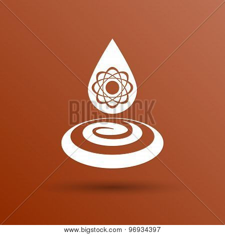 chemical icons icon drop water element formula symbol atom gene
