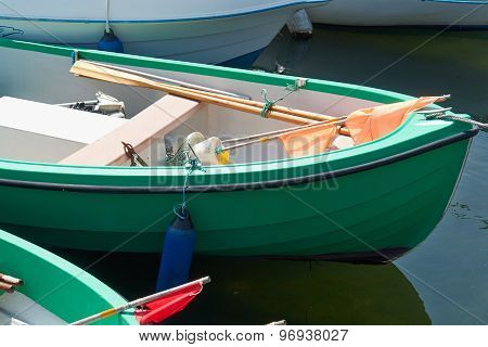 Green Small Fishing Boat Dinghy