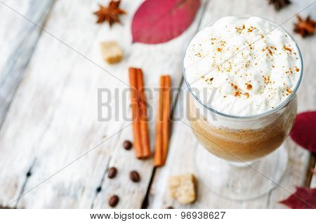 Pumpkin Spice Frappuccino With Whipped Cream