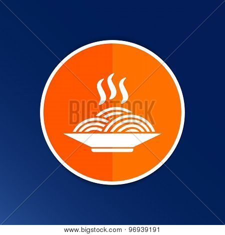 spaghetti logo dish meal cafe kitchen delicious