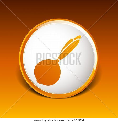 Sketch onion isolated Abstract design logo art