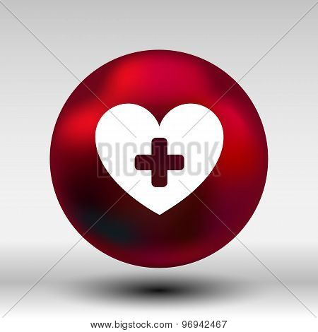 Heart beat rate icon, fitness and exercises concept