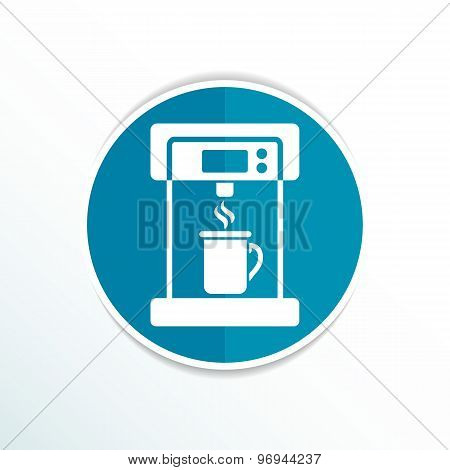 Coffee maker monochrome icon electric cafe kitchen
