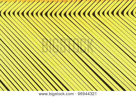 Line Up Yellow Metal Slat