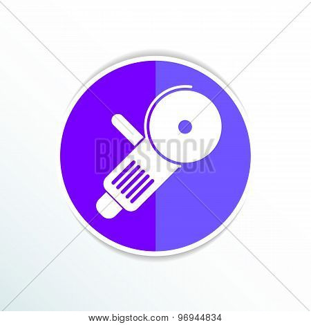 Simple icon angle grinder electro vector work